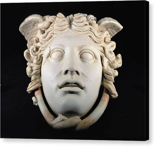 Gorgons Canvas Print - Rondanini Medusa, Copy Of A 5th Century Bc Greek Marble Original, Roman Plaster by .