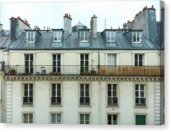 Roof Of Paris Canvas Print