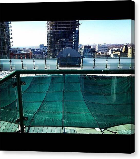 Canvas Print - Roof Top Pool. Closed For The Season by Big Brother