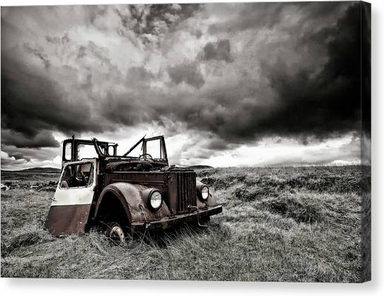 Rusty Truck Canvas Print - Roofless by ?orsteinn H. Ingibergsson