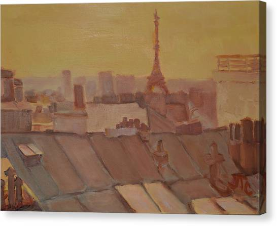 Roofs Of Paris Canvas Print