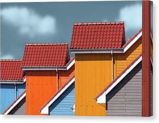 Bricks Canvas Print - Roofs by Theo Luycx
