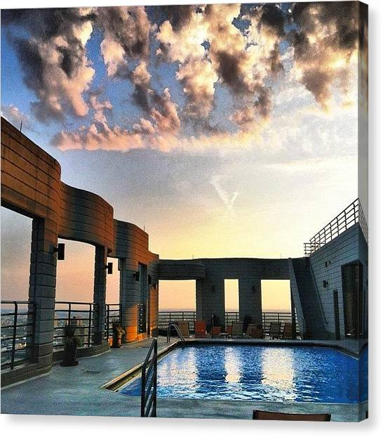 Lake Michigan Canvas Print - Rooftop  by Jennifer Gaida