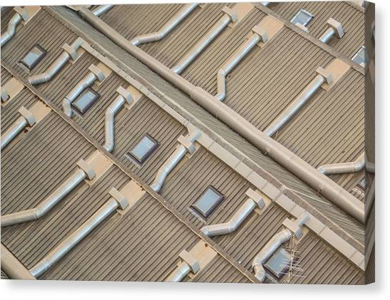 Rooftop Ducts Canvas Print