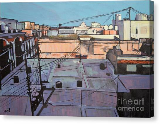 Rooftops Of Old San Juan Canvas Print