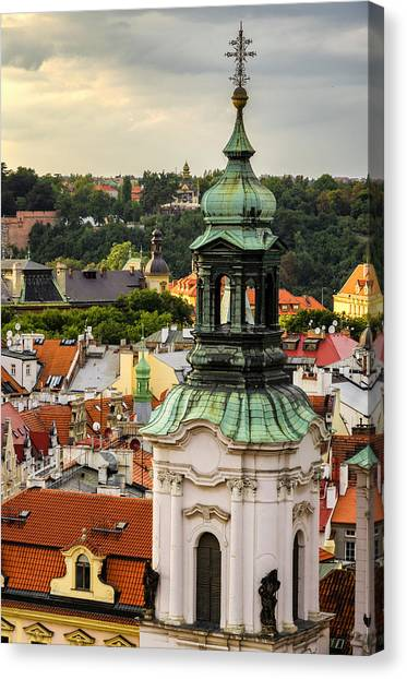 Rooftops Of Prague 1 Canvas Print