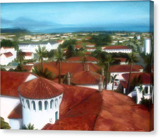 Rooftops Of Santa Barbara Canvas Print