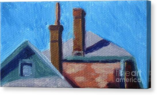 Rooftops On State Canvas Print by Katrina West