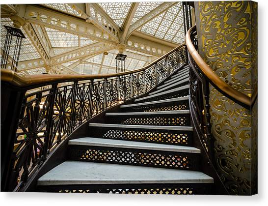 Rookery Building Atrium Staircase Canvas Print