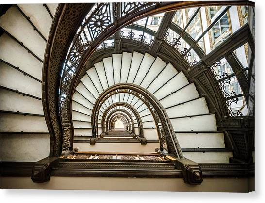 Frank Lloyd Wright Canvas Print   Rookery Building Oriel Staircase By  Anthony Doudt