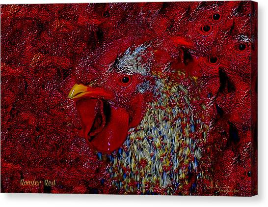 Rooster Red Canvas Print