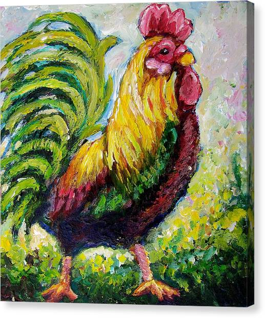 Rooster Canvas Print by Sebastian Pierre