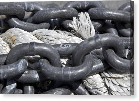 Rope And Chain Canvas Print