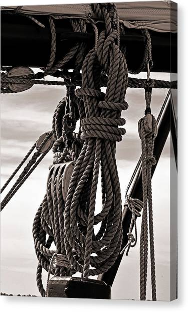 Rope Work Canvas Print
