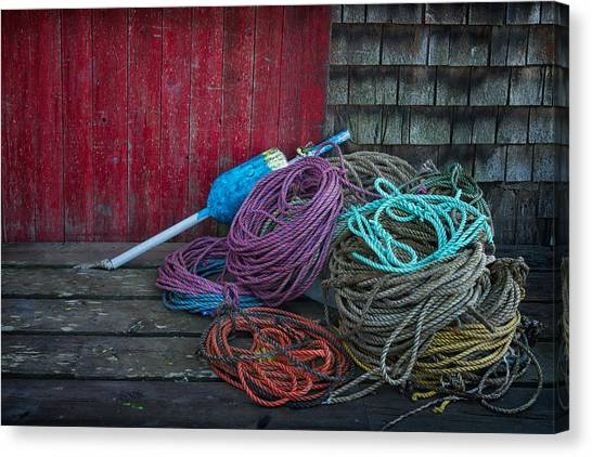 Ropes And Buoy Canvas Print