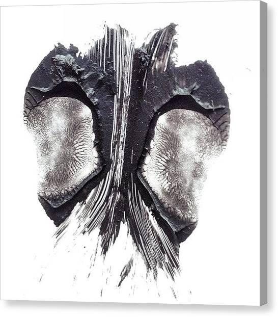 Psychology Canvas Print - #rorschach #inkblot #psychology #test by Ann Singer