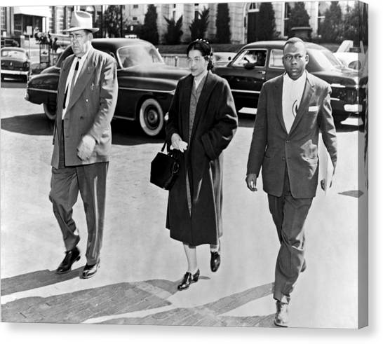 Police Officers Canvas Print - Rosa Parks Going To Jail by Underwood Archives