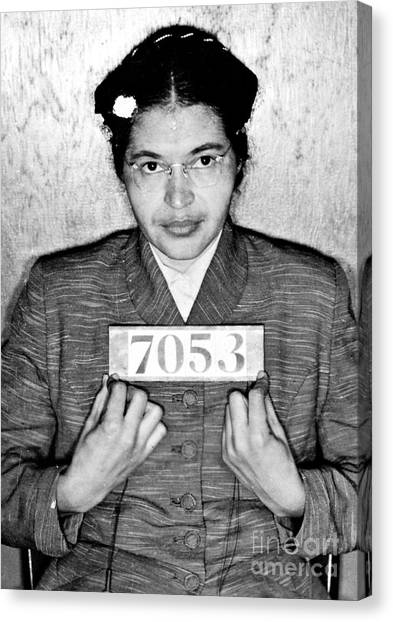 Placard Canvas Print - Rosa Parks by Unknown
