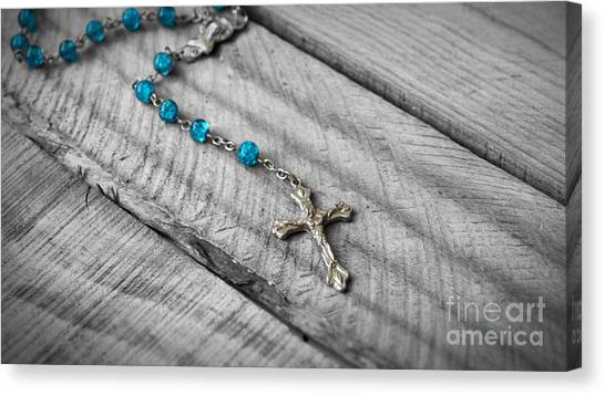 Rosary Canvas Print - Rosary by Aged Pixel