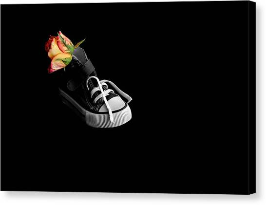 Rose And Shoe Canvas Print