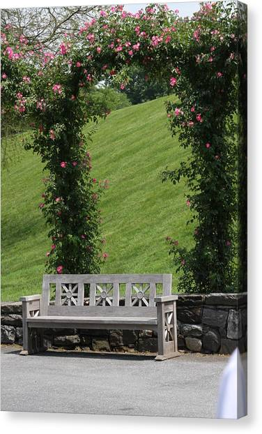Rose Arch At Longwood Gardens Canvas Print by Vadim Levin