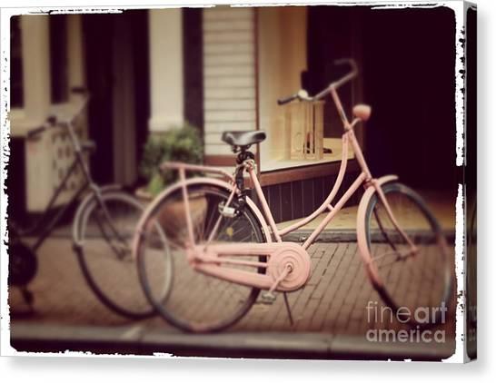 Rose Bike Canvas Print