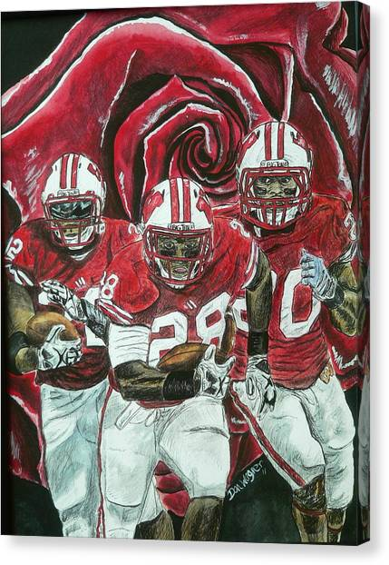 Rose Bowl Badgers Canvas Print