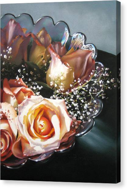 Rose Bowl Canvas Print by Dianna Ponting
