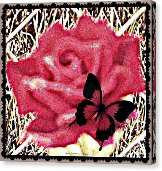 Matting Canvas Print - Rose By Any Other Name by Bobbee Rickard