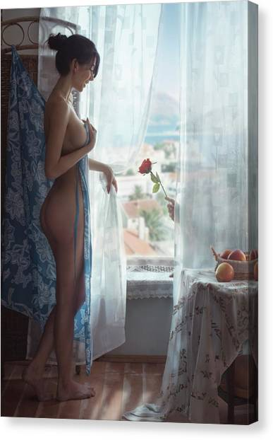 Humour Canvas Print - Rose by David Dubnitskiy