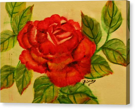 Rose Canvas Print by Dina Jacobs