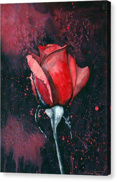 Canvas Print - Rose In Flames by Zuzana Vass