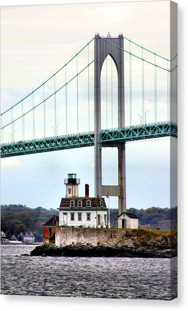 Rose Island Lighthouse Canvas Print