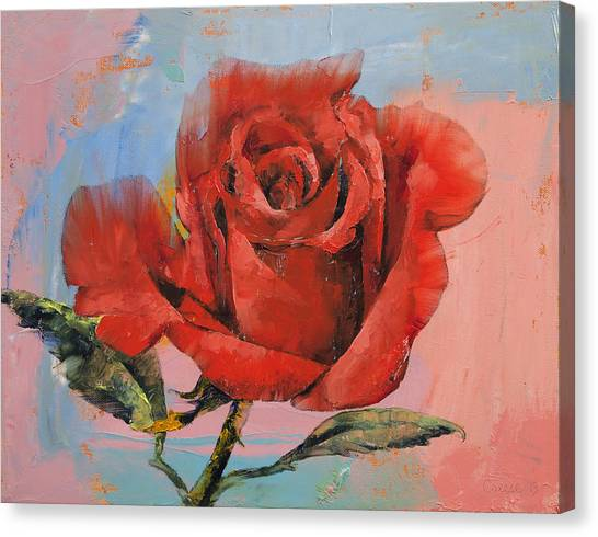 Rose Canvas Print - Rose Painting by Michael Creese