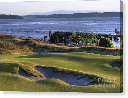 Hole 17 Hdr Canvas Print