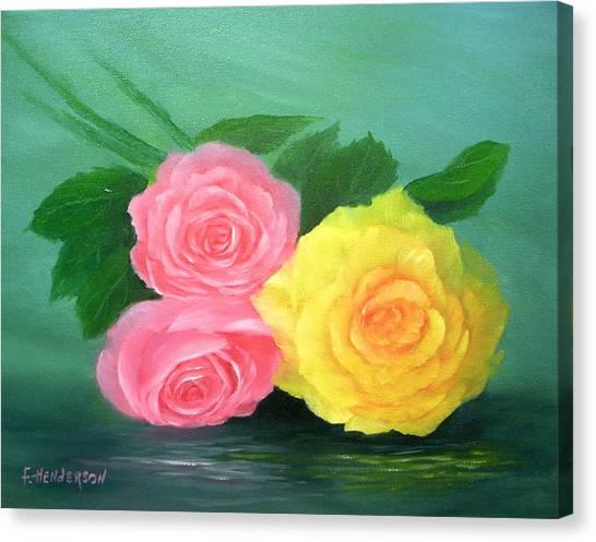 Rose Trio Canvas Print by Francine Henderson