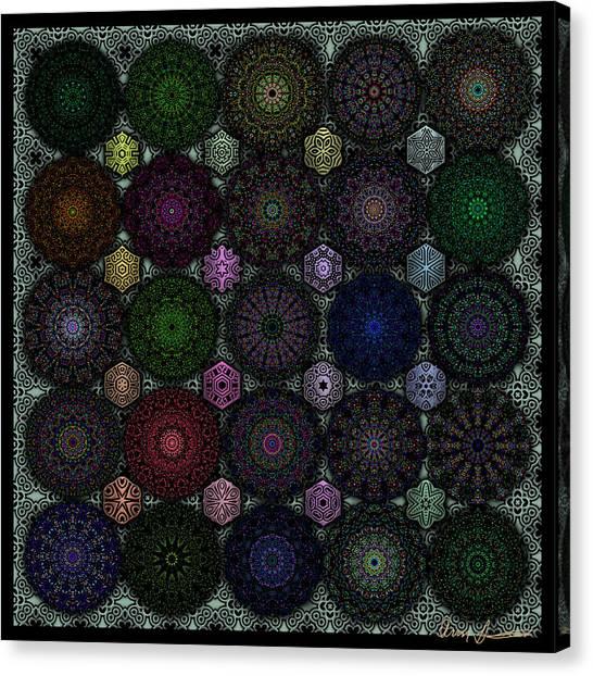 Rose Window Kaleidoscope Quilt Canvas Print
