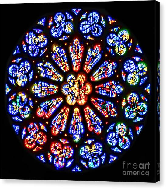 Rose Window Of Grace Cathedral By Diana Sainz Canvas Print