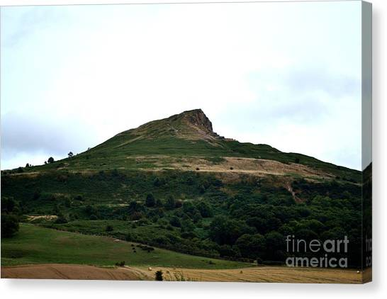 Canvas Print featuring the photograph Roseberry Topping Hill by Scott Lyons