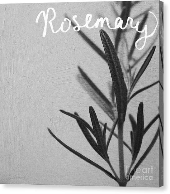 Food Canvas Print - Rosemary by Linda Woods
