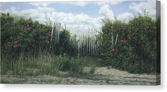 Buzzards Canvas Print - Roses And Blue by Julia O'Malley-Keyes