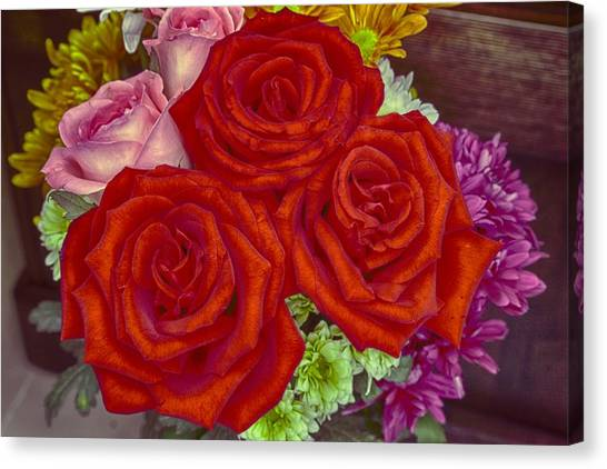 Roses Are Red Canvas Print by Mario Legaspi