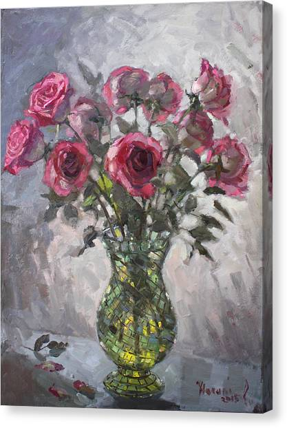 Red Roses Canvas Print - Roses For Viola 2 by Ylli Haruni