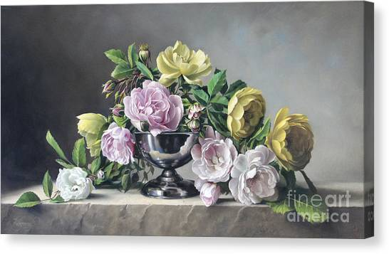Live Canvas Print - Roses Piramide by Pieter Wagemans