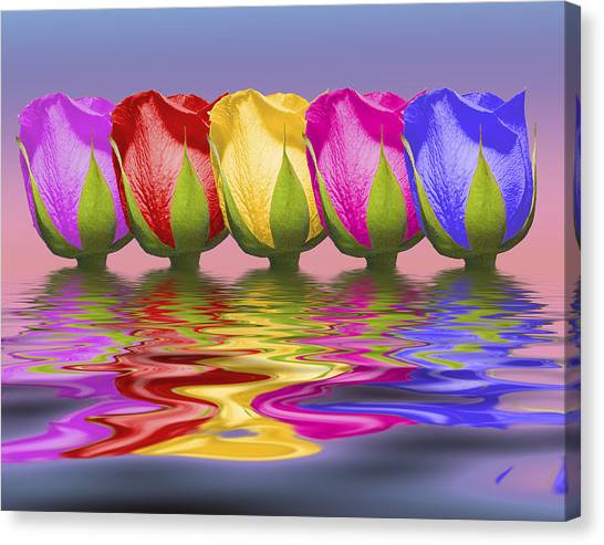 Collage Canvas Print - Roses Rising by Tom Mc Nemar