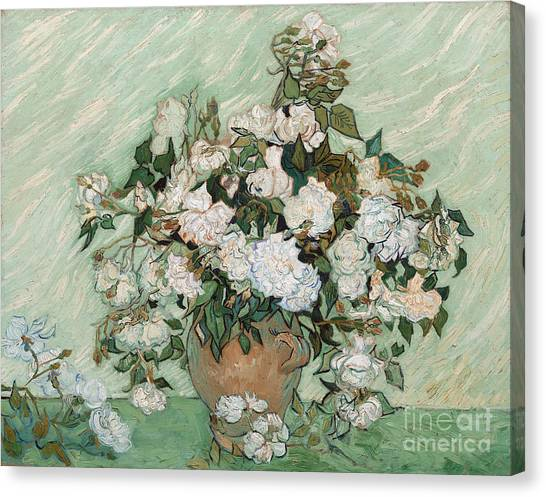 Rose In Bloom Canvas Print - Roses by Vincent Van Gogh