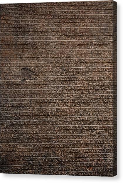 Rosetta Stone Texture Canvas Print