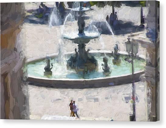 Rossio Square Lisbon Canvas Print