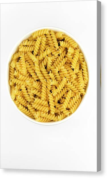 Knockout Canvas Print - Rotelli Pasta by Geoff Kidd/science Photo Library