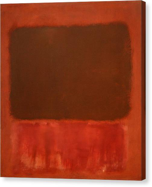 Rothko's Mulberry And Brown Canvas Print